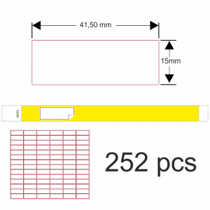 Klistremerker til 19 mm papir armbånd og festival armbånd