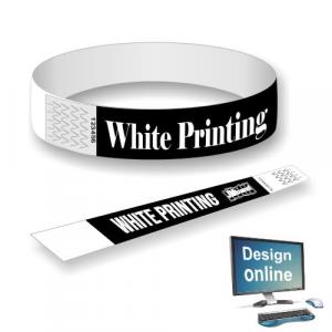 Papirarmbånd hvitt trykk Design selv