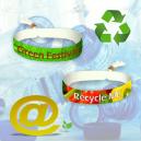 Festivalstoffarmbånd laget av resirkulert PET-polyester