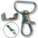Lås og klemme til nøkkelbånd 15mm