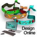 Tekstilarmbånd  vevd Design selv