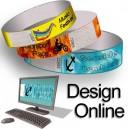 Papir armbånd design online multi farve