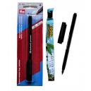 Permanent marker pen for textiles.
