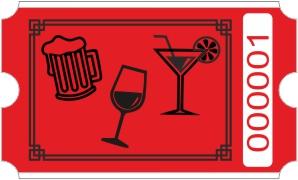 Drinks rulle - Rød