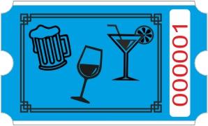 Drinks rulle - Blå