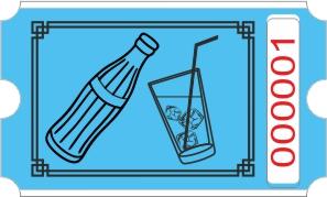 Flaske rulle - Blå