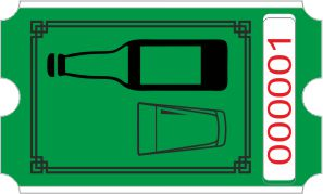 Flaske rulle - grønn